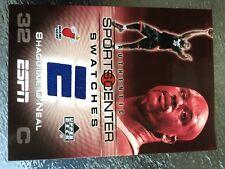 2005-06 Upper Deck ESPN Sportscenter jersey swatch SHAQUILLE O'NEAL!!   RARE!!!