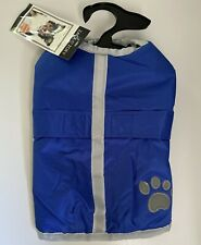 NEW Zack & Zoey Reversible and Reflective Dog Blanket Coat Size Small - Blue