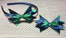 Handmade CUBS SCOUTS Hair Bows HEADBAND AND Single CLIP SET,To Match Uniform!!