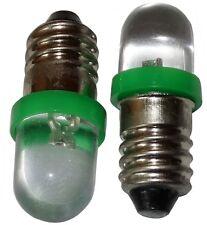 2x ampoules E10 LED 12V lumière verte