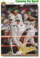 333 JOSE CANSECO OAKLAND ATHLETICS  BASEBALL CARD UPPER DECK 1992