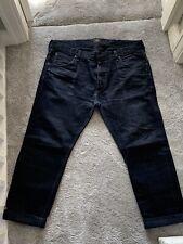 Lee 101 Black Denim/ Blue Selvedge Jeans - 36/ 30