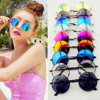 Men Women's Vintage Glasses Retro Round Metal Mirror Sunglasses Outdoor Eyewear