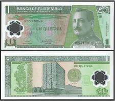 GUATEMALA 1 QUETZAL 2006 FDS UNC POLYMER GENERAL JOSE MARIA ORELLANA