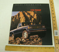 1985 85 Chevrolet Chevy S-10 Pickup Trucks Sales Brochure Literature 20 Pages