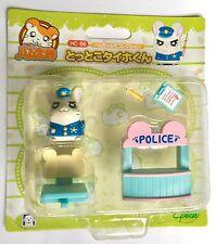 "Hamtaro Japanese Hamutaro ""Police Ham"" Hamster Figure & Accessories Set (HC-86)"
