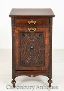 Victorian Walnut Cabinet - Antique Carved Grotesque 1870