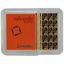 24k 50 1gram Gold Bar Valcambi Suisse from Gold CombiBar 999.9 Fine bullion