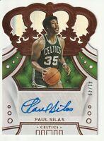2019-20 Panini Crown Royale Paul Silas Autograph AUTO Die Cut Boston Celtics /49