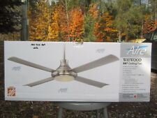 Free Ship, Aire a Minka Group Design Waywood 56 in. LED Indoor White Ceiling Fan