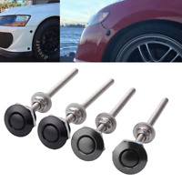 4Pcs Mini Quik Release Latch Fastener Car Hood Pin Bonnet Lock 100mm Long Screw