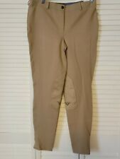 New listing NWT TuffRider Ladies Tan Lowrise Pull-On Knee Patch Breeches Equestrian Size 34