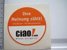 Aufkleber Sticker Ciao com - Verbraucherportal (6292)