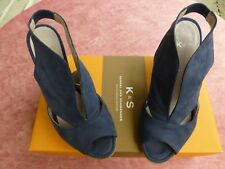 0a49de71d8 K & S Damenpums-Sandalen Gr.5 blau - Schuhmanufaktur Kennel und Schmenger