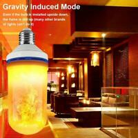 LED Flicker Flame Light Bulb Simulated Burning Fire Party Lamp Effect Night A7I1