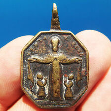 ANTIQUE CHRIST OF CHALMA MEXICAN MEDAL OLD 18TH CENTURY BLESSED VIRGIN CHARM