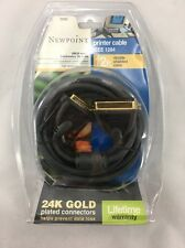 Newpoint 12 Foot Printer Cable IEEE 1284 Double Shielded 24K Gold Plated Male