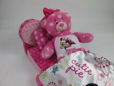 BUILD A BEAR DISNEY MINNIE MOUSE PLUSH,BLANKET,PILLOW, BED/COUCH RARE SET NEW