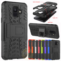 For Samsung Galaxy A6 / A6 Plus Case Rugged Armor Shockproof Kickstand Cover