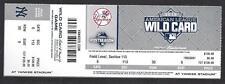 2015 MLB WILD CARD FULL UNUSED BASEBALL TICKET - ASTROS @ NEW YORK YANKEES