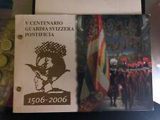 feuillet philatélique 2 €vatican + timbre gardes Suisses 2006