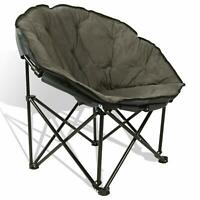 Suede Pad Folding Moon Chair Saucer Dorm Lounge Bedroom Round Seat Furniture