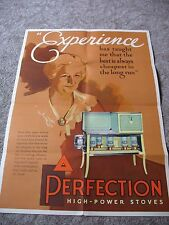 VINTAGE 1930's PERFECTION STOVE COMPANY POSTER - SALES BROCHURE GREAT SHAPE