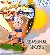 Hard Rock Cafe Dallas 2005 Seasonal Sports Puzzle Summer Baseball Girl Pin New