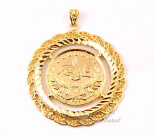 XXL Resat Ancient Ceyrek Tugra Large Gold Coin Turquish Gold Altin KAPLAMA Yeni