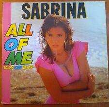 "DISCO 12"" VINILE SABRINA ALL OF ME BOY OH BOY MIX DANCE REMIX VG/VG+"