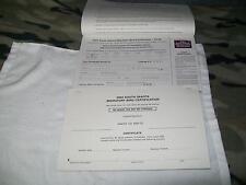 2004 South Dakota Migratory Bird Book Of Ten License With Stamps