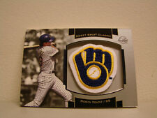 2003 Sweet Spot Classic Robin Yount Logo Patch Card Box # 26 Milwaukee Brewers