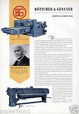 Maschinenfabrik Böttcher & Gessner XL Reklame 1956 Bahrenfeld Holzbearbeitung ad