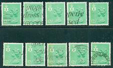Great Britain N. Ireland Sg-Ni36, Scott # Nimh-19 Used, 10 Stamps, Great Price!
