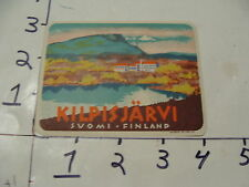 Vintage Travel Trunk Luggage Label Decal--KILPISJARVI SUOMI FINLAND