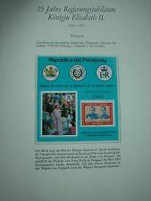 Krönungsjubiläum 25 Jahre England Elisabeth II. selten! PARAGUAY nummeriert TOPP
