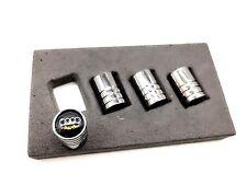 Gunmetal Black Chrome Tire Valve Stem Caps AUDI A3 A4 A5 A6 A7 A8 Q3 Q5 Q7 TT R8