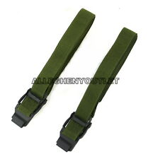 "Qty 2 US Military ALICE CARGO AUTOMOBILE STRAP Pack Lashing Metal OD 52"" NEW"