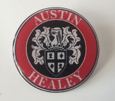 18mm AUSTIN HEALEY WHEEL CENTRE CAP STICKER RESIN DOME 3D DOMED SLOT MAGS CAPS