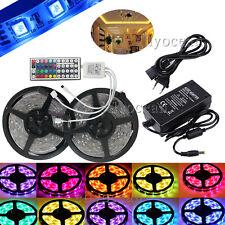 10M 5050 wasserdicht IP65 Streifen LED RGB Licht Leiste + 44 key+ 5A Netzteil