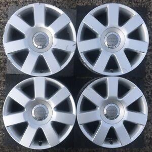 Set 4 x Genuine Audi 16 TT Mk1 Alloy Wheels 7 Spoke NO WINTER TYRES Mk 1 A3 Rims