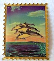 Metal National Wildlife Federation Dolphin Stamp