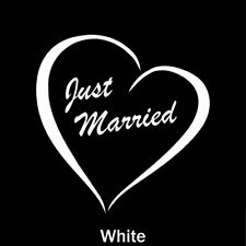 Just Married Heart Back Windshield Sign Car and Truck Decal