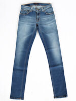 Nudie Unisex Damen Herren Skinny Fit Jeans - Tight Long John Super Blue