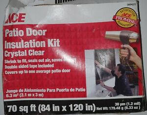 Ace 5604277 Patio Door Insulation Kit Crystal Clear 70 sq ft