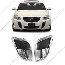 For Buick Regal GS 2009-2017 Front Bumper Fog Light Mesh Grille Bezels ABS_ 2pcs