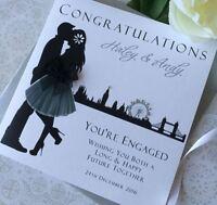 Handmade Personalised Engagement Card Daughter Son Nephew Niece Mum Dad Friend