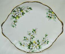 Lovely Royal Albert WHITE DOGWOOD Bone China Cake Plate Made In England
