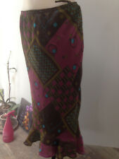 TAILLISSIME  jupe longue été polyester imprimé doublée Taille 44