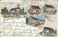 Ansichtskarte Hochemmingen um 1900 Gasthaus Rathaus ... Litho  (Nr.9504)